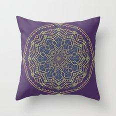Mandala - purple and gold - 2 Throw Pillow