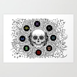 Side Effects Inverted Cover Art Art Print