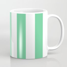 Asda Green (1999) - solid color - white vertical lines pattern Coffee Mug