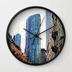 Frankfurt Germany - Red Light Wall Clock