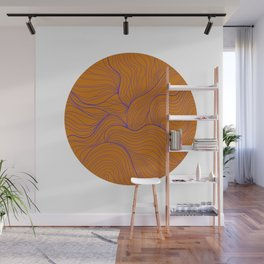 Wavy lines Wall Mural