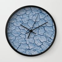 desert Wall Clocks featuring desert by laika in cosmos