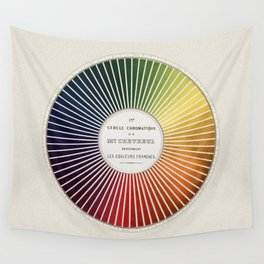 Chevreul Cercle Chromatique, 1861 Remake, vintage wash Wall Tapestry