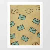 letter Art Prints featuring Letter by sinonelineman