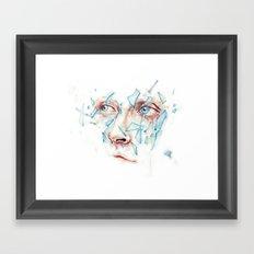Shattered emotions Framed Art Print