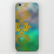 Gold lace decoration iPhone Skin