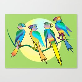 All a Twitter Canvas Print