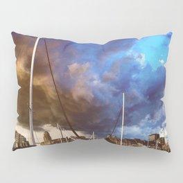 Storm Over the Erie Basin Marina Pillow Sham