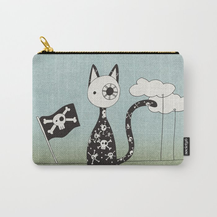 Just a Pirate Cat Carry-All Pouch