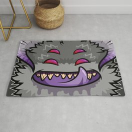 Diabolical Fuzzball (charcoal) Rug