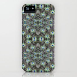 Wall to Wall Peacock Feathers iPhone Case