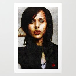 Portrait of Kerry Washington Art Print