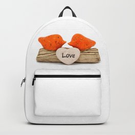 Orange love birds Backpack