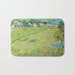 Vincent Van Gogh View Of Vessenots Near Auvers Bath Mat