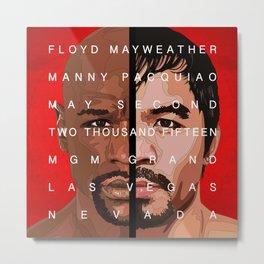 Mayweather vs. Pacquiao Metal Print