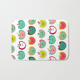 Cute Apples  Bath Mat