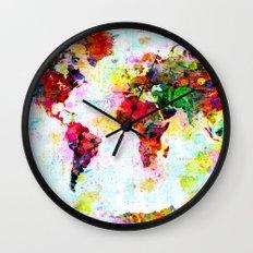 World Map - 4 Wall Clock