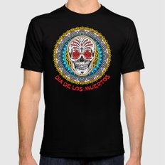 Day of the Dead Mens Fitted Tee Black MEDIUM