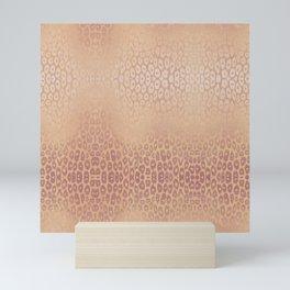 Gold Pink Leopard Mini Art Print