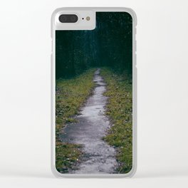 Green Sighs Clear iPhone Case