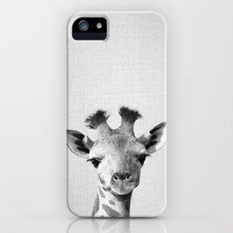 Baby Giraffe - Black & White iPhone Case