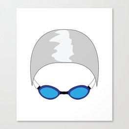 Swim Cap and Goggles Canvas Print
