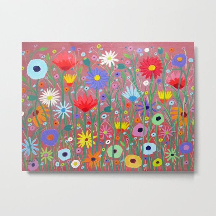 Flowers-Abstracts  Metal Print