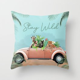 Stay Wild and Free Throw Pillow