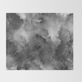 ink style of black watercolour texture Throw Blanket