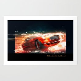 car artwork Art Print