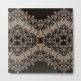 small sarasa floral on black Metal Print