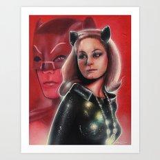 Julie Newmar Catwoman Art Print