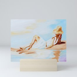 Girl Relaxing Mini Art Print