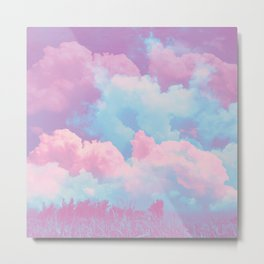 Pink cloud Metal Print