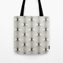 Geometric Orb Pattern - Black Tote Bag