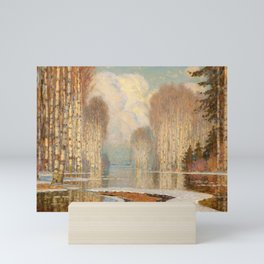 Riverscape by Vilhelms Purvītis - Latvian Lettish Fine Art - Purvitis Mini Art Print