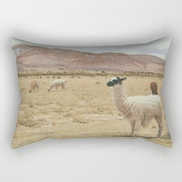 Lama Pampa bolivie Rectangular Pillow