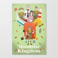 moonrise kingdom Canvas Prints featuring Moonrise Kingdom by Wharton