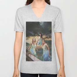 """Sirens (""""Charm of of the Ancient Enchantress"""" Series) Unisex V-Neck"""
