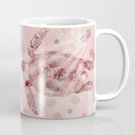 Glamour Turtle Rose Gold Coffee Mug