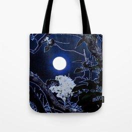 Mystical Moon and Viburnum Tote Bag