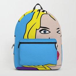 WTF! Blond Cartoon Pop Art Backpack