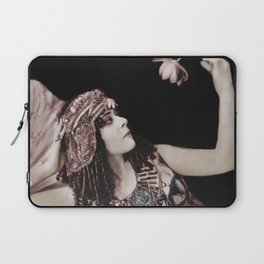 Cleopatra Theda and Lotus Laptop Sleeve