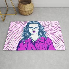 Mind Your Own Business Rug
