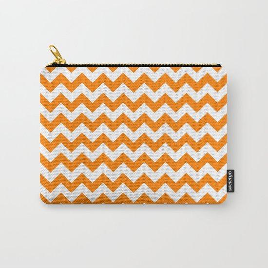 Chevron (Orange/White) Carry-All Pouch