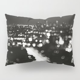 Los Angeles cityscape. L.A. Noir Pillow Sham