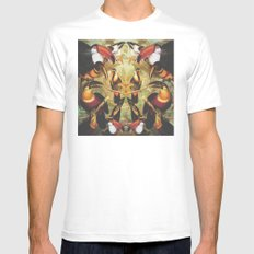 Tucans White LARGE Mens Fitted Tee