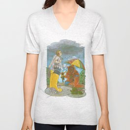 Kids in the Rain Unisex V-Neck