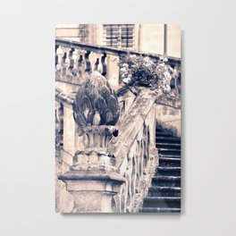 Balustrade Blue Metal Print