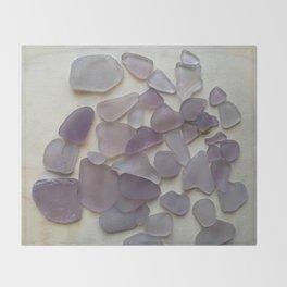Genuine Purple Sea Glass Collection Throw Blanket